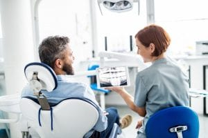 Oral surgery x-ray